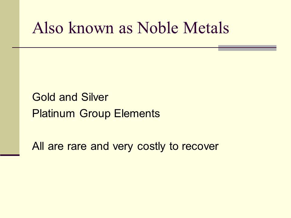 World Locations of Precious Metals