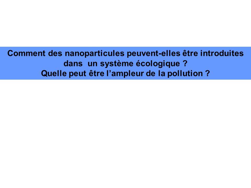 Comment des nanoparticules peuvent-elles être introduites dans un système écologique .