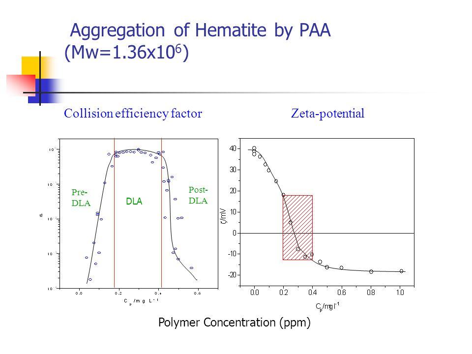 Effect of Molecular Weight Collision efficiency factor Zeta-potential