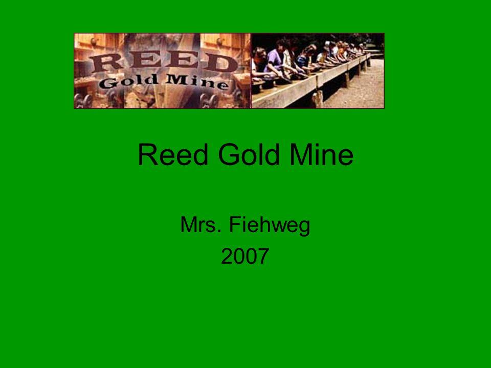 Reed Gold Mine Mrs. Fiehweg 2007