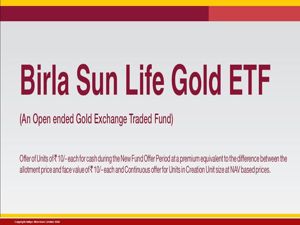 Copyright Aditya Birla Nuvo Limited 2008 Birla Sun Life Mutual Fund