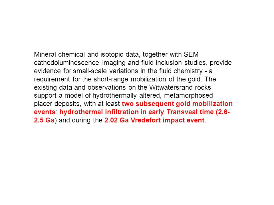 Mineral chemical and isotopic data, together with SEM cathodoluminescence imaging and fluid inclusion studies, provide evidence for small-scale variat