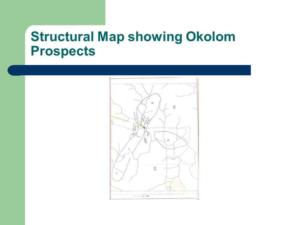 Structural Map showing Okolom Prospects