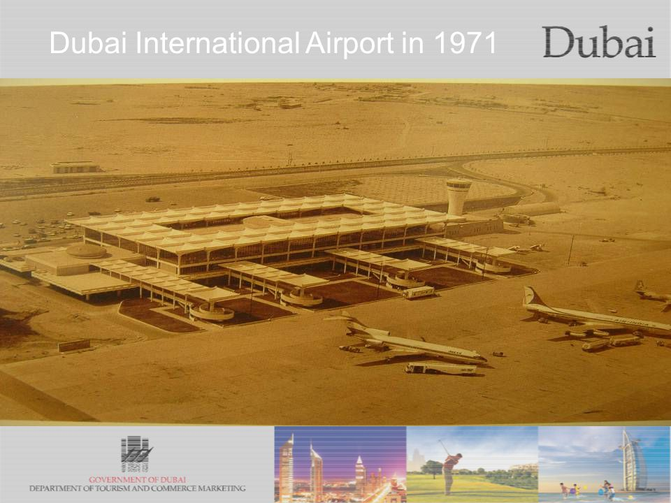The City of Gold Dubai International Airport in 1971