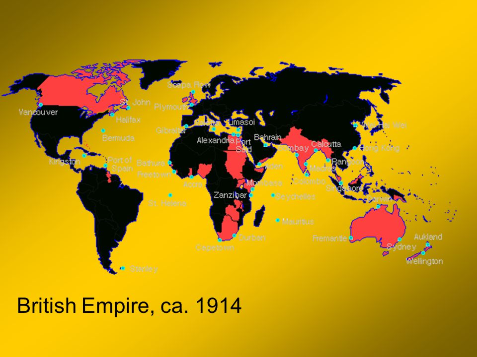 British Empire, ca. 1914