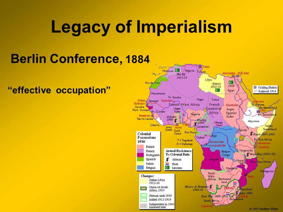 Legacy of Imperialism Berlin Conference, 1884 effective occupation