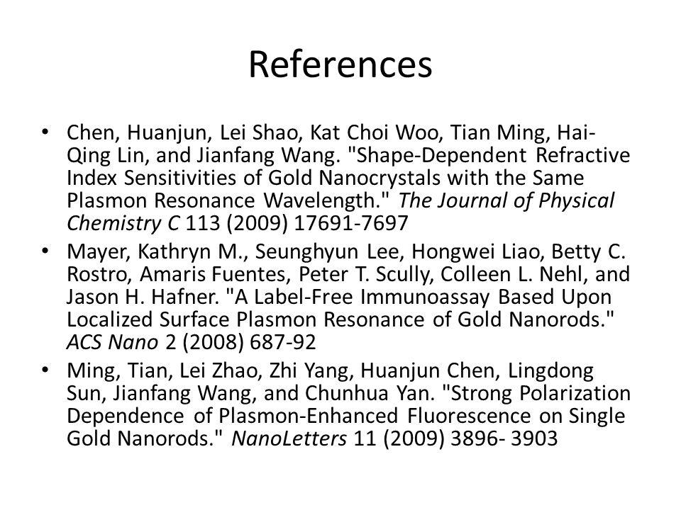 References Chen, Huanjun, Lei Shao, Kat Choi Woo, Tian Ming, Hai- Qing Lin, and Jianfang Wang.