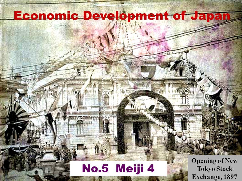 Economic Development of Japan No.5 Meiji 4 Opening of New Tokyo Stock Exchange, 1897