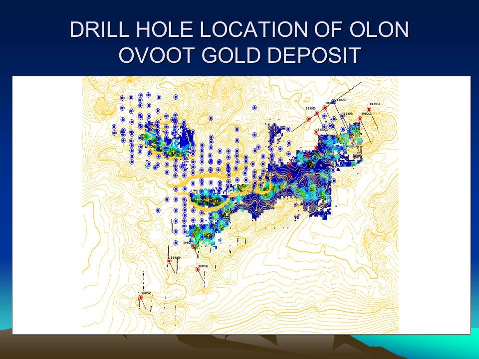 DRILL HOLE LOCATION OF OLON OVOOT GOLD DEPOSIT