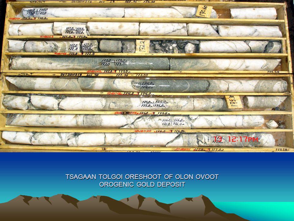 TSAGAAN TOLGOI ORESHOOT OF OLON OVOOT OROGENIC GOLD DEPOSIT