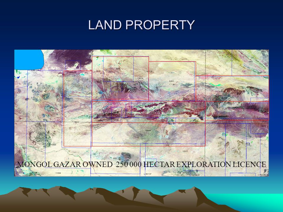 LAND PROPERTY MONGOL GAZAR OWNED 250 000 HECTAR EXPLORATION LICENCE
