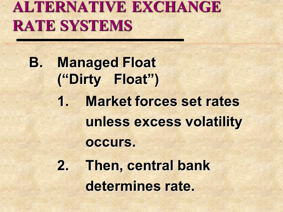 THE EUROPEAN MONETARY SYSTEM B.EMS Objective: to provide exchange rate stability to all members by holding exchange rates within specified limits.