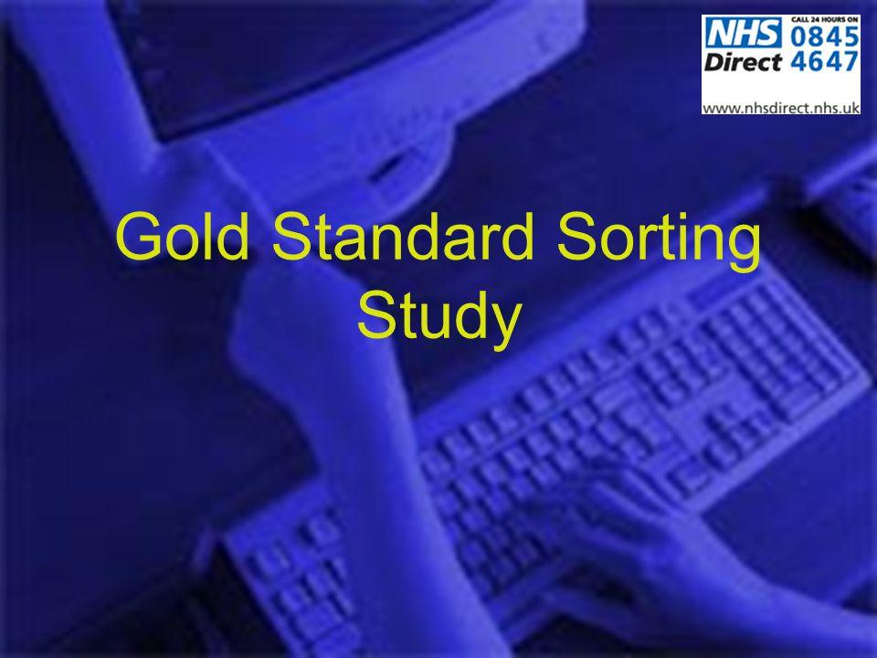 Gold Standard Sorting Study