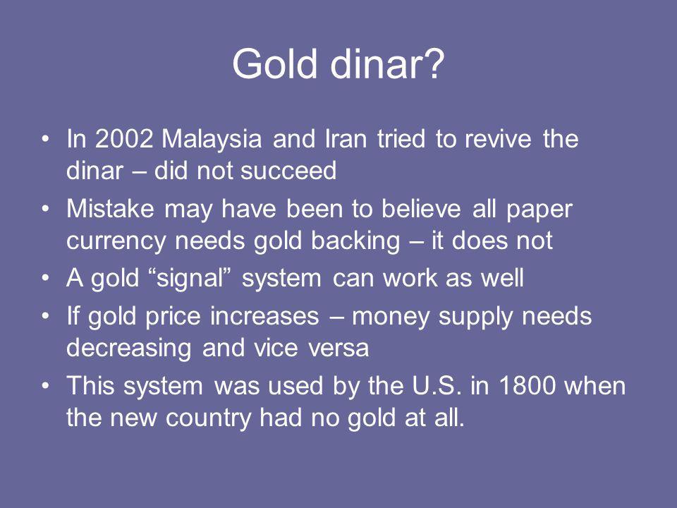 Gold dinar.