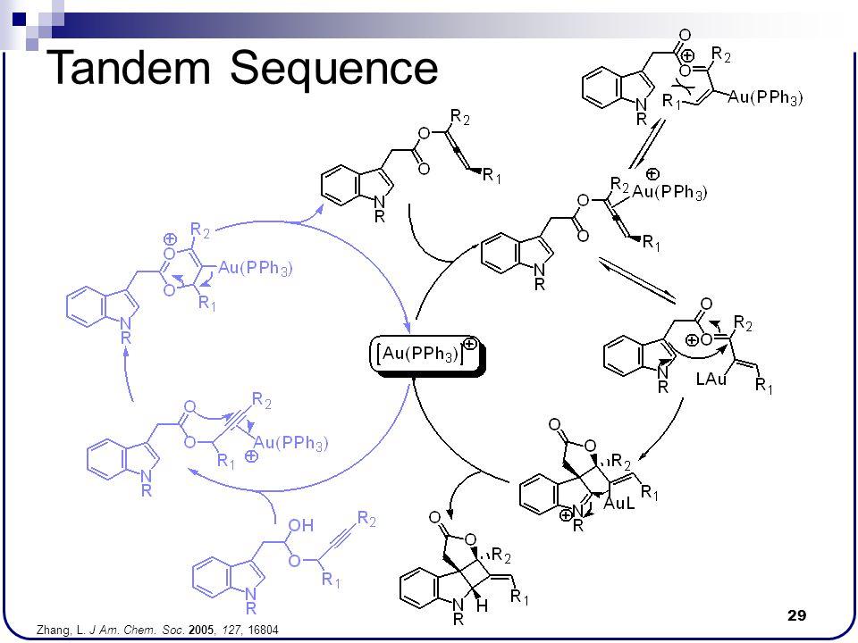 29 Tandem Sequence Zhang, L. J Am. Chem. Soc. 2005, 127, 16804