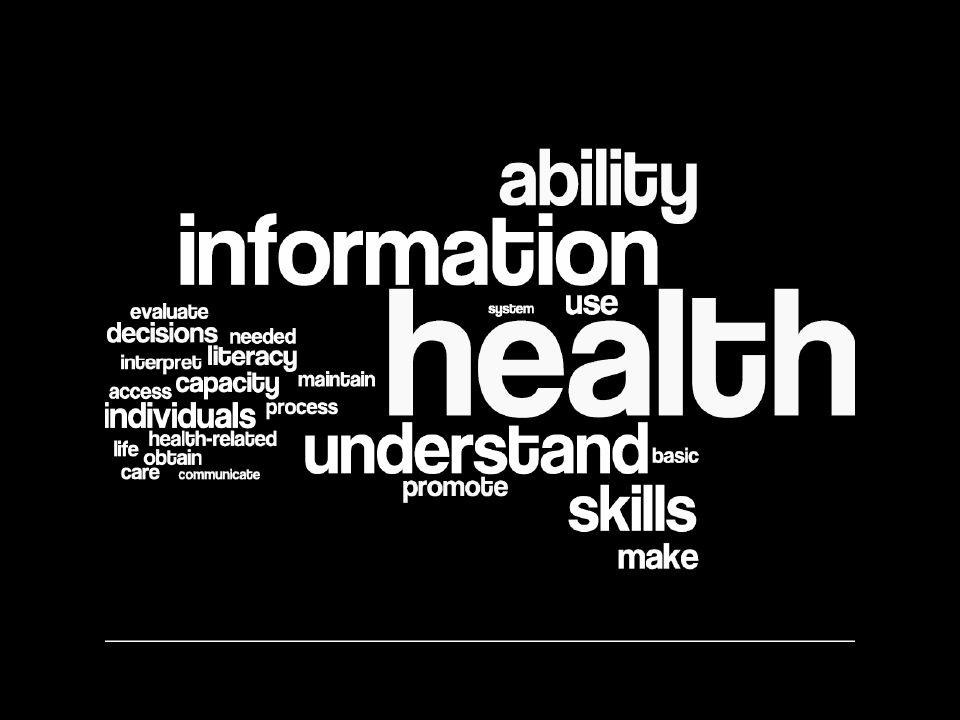 Why health literacy.