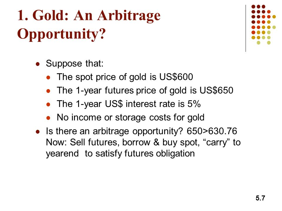 5.18 Index Arbitrage When F 0 > S 0 e (r-q)T an arbitrageur buys the stocks underlying the index and sells futures When F 0 < S 0 e (r-q)T an arbitrageur buys futures and shorts or sells the stocks underlying the index