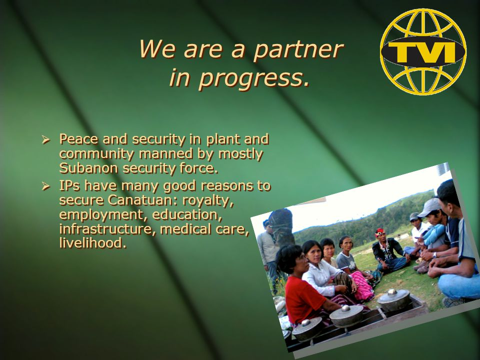 We are a partner in progress.