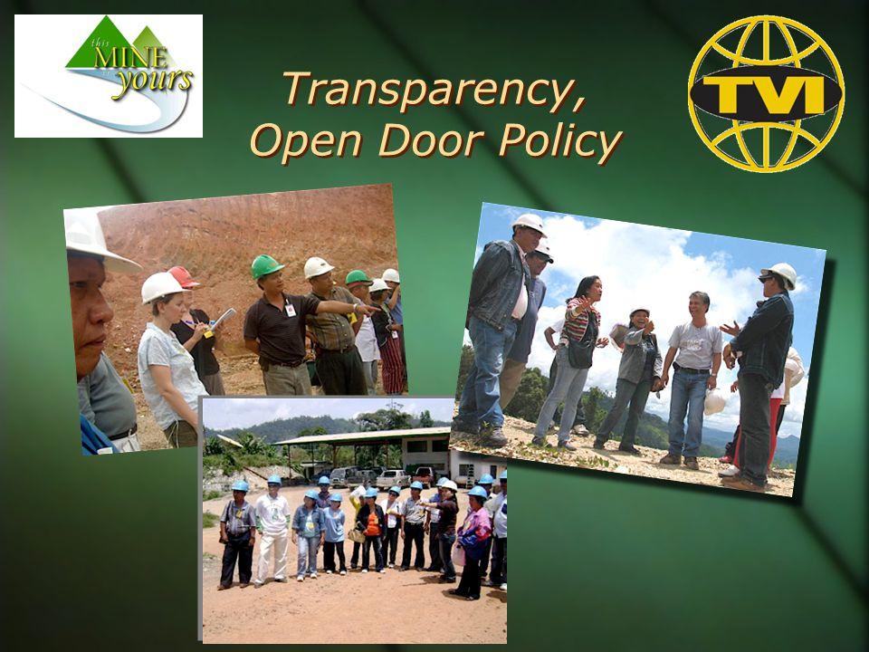 Transparency, Open Door Policy