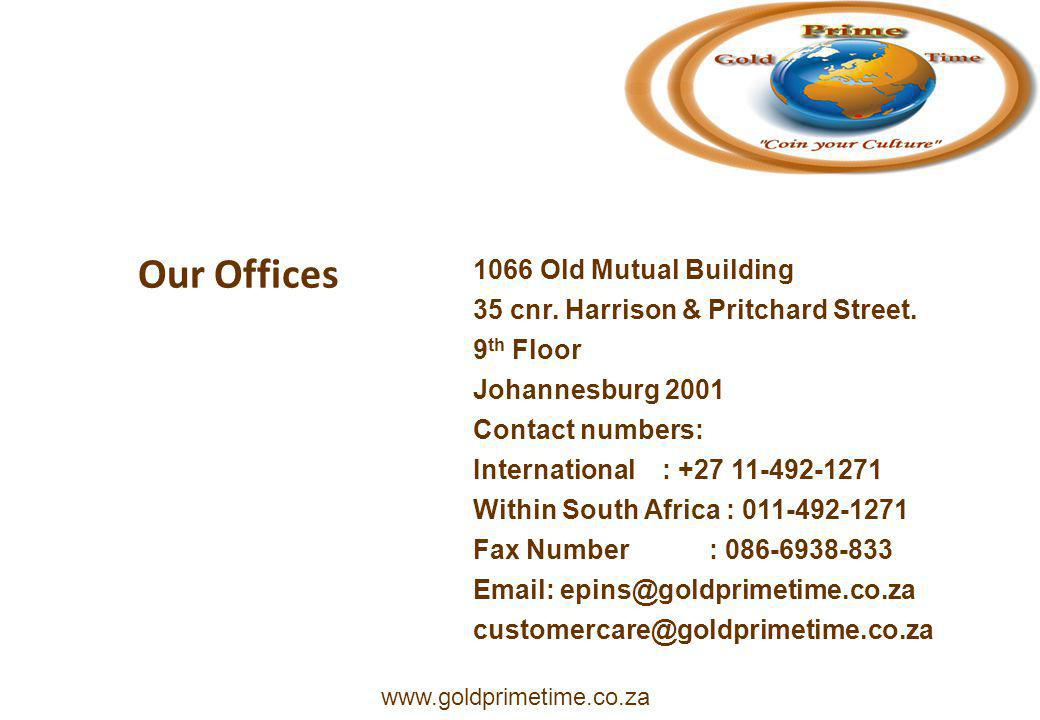 Our Offices 1066 Old Mutual Building 35 cnr. Harrison & Pritchard Street.