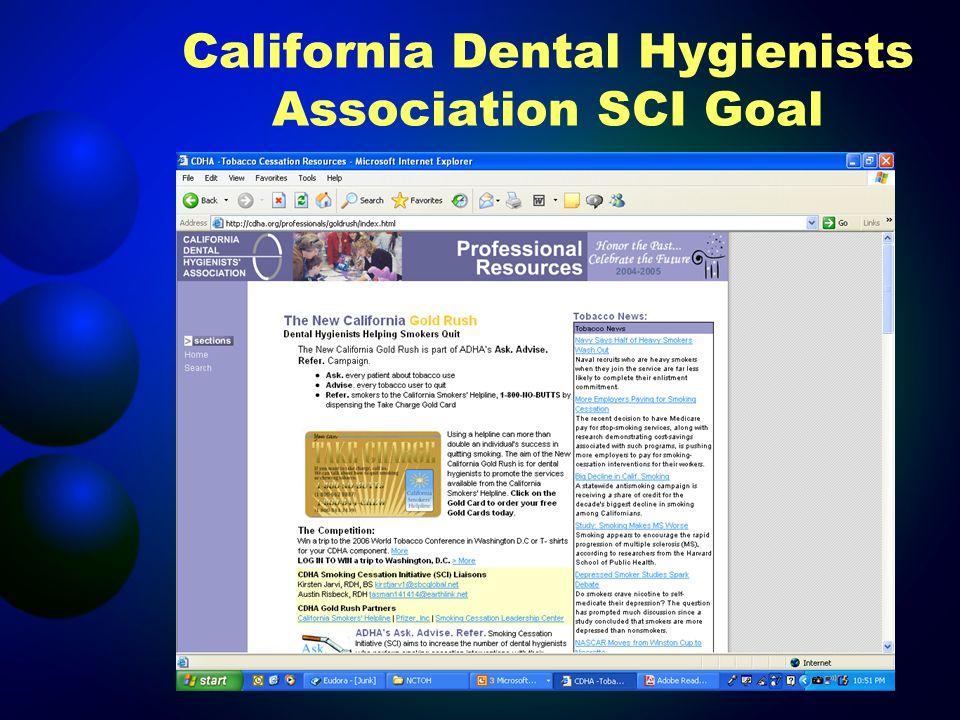 California Dental Hygienists Association SCI Goal