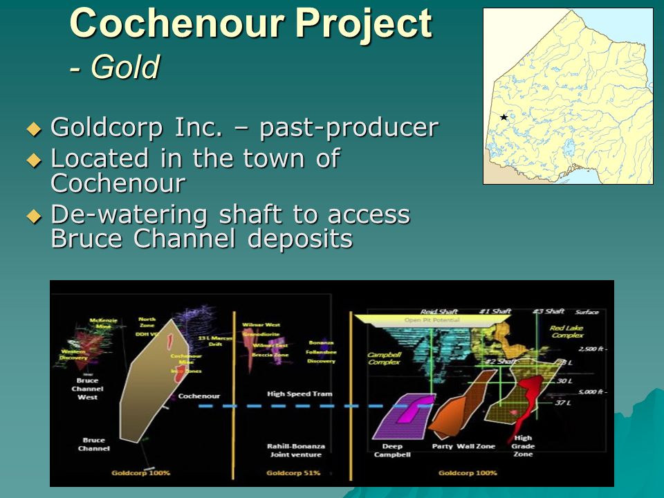 Lac des Iles Mine – Palladium, Copper, Nickel, Gold North American Palladium Limited North American Palladium Limited – restarted in April 2010, underground expansion underway Located ~90 km N Located ~90 km N of Thunder Bay of Thunder Bay