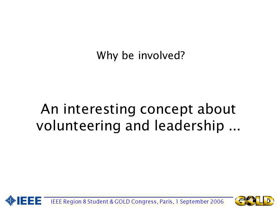 An interesting concept about volunteering and leadership...
