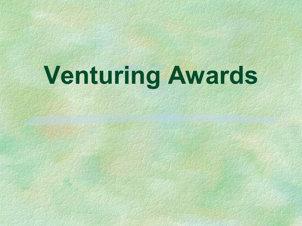 Venturing Awards Historically based - 95 years experience u Relevant today u Program supplement u Flexible