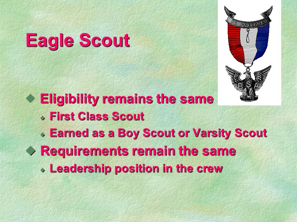 Boards of Review § Scout rank must have board of review § May be troop, team, or crew / ship § 3-6 committee members l No advisors, assistants, relatives § Purposes l Work has been learned and completed l What kind of experience youth having.