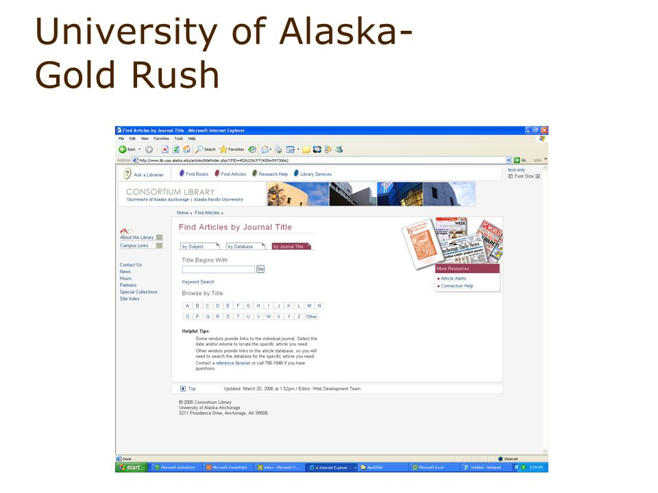 University of Alaska- Gold Rush