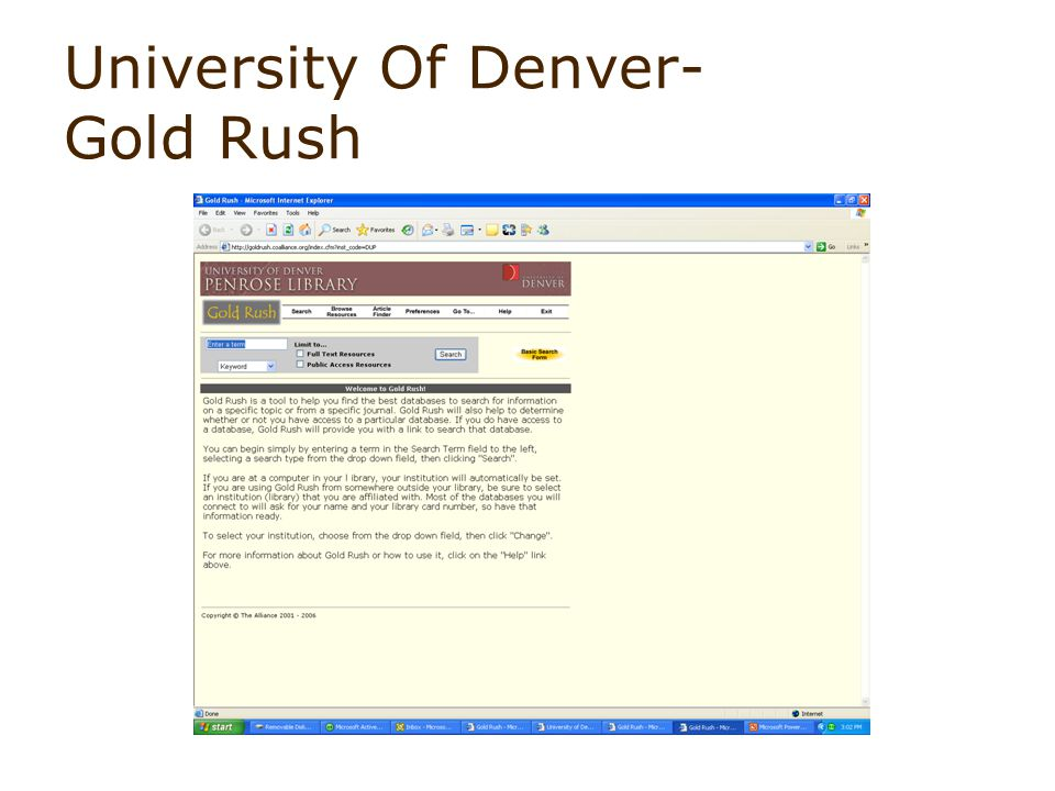 University Of Denver- Gold Rush