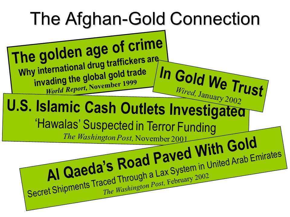The golden age of crime Why international drug traffickers are invading the global gold trade World Report, November 1999 U.S.