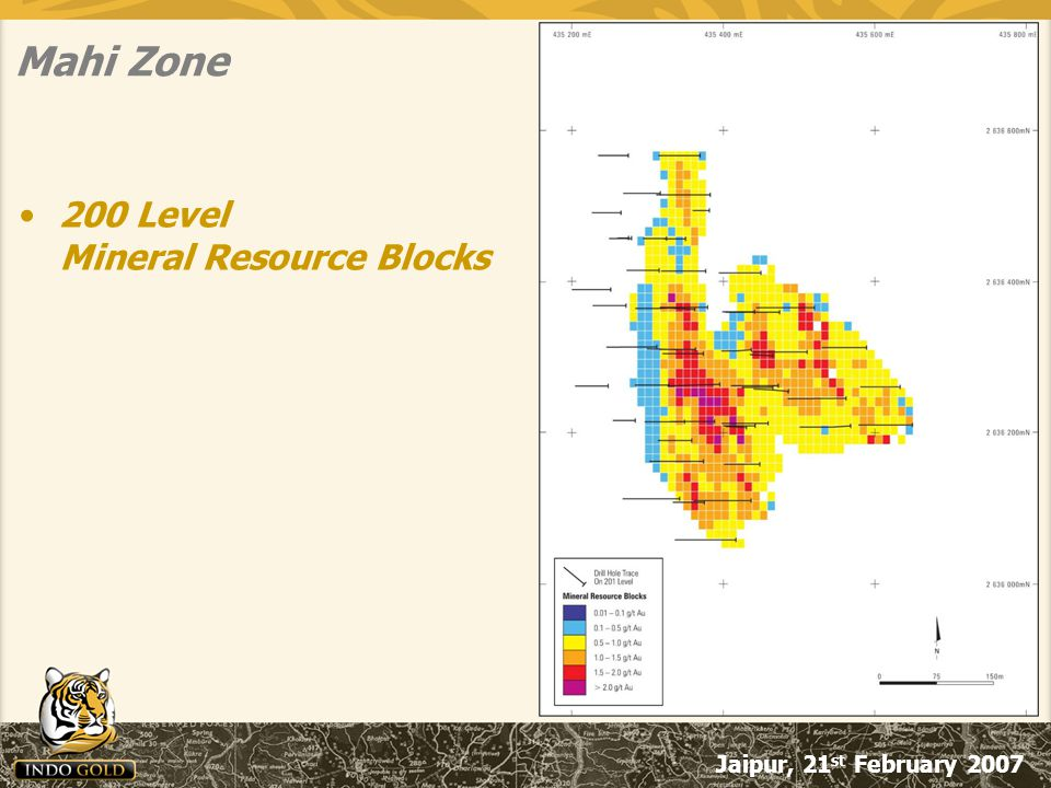 Jaipur, 21 st February 2007 Mahi Zone 200 Level Mineral Resource Blocks