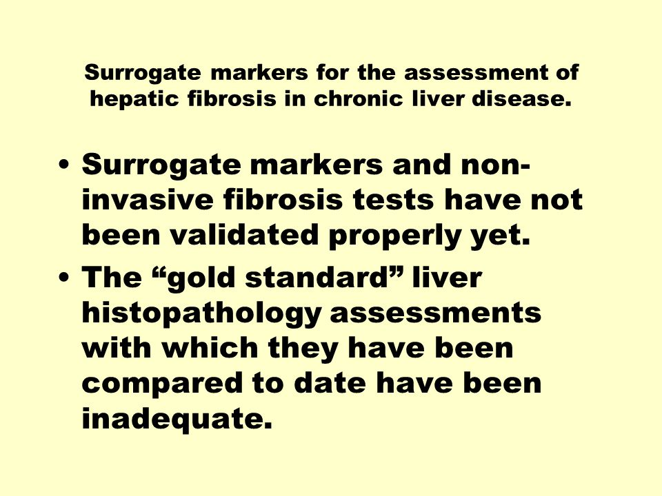 Surrogate markers for the assessment of hepatic fibrosis in chronic liver disease.