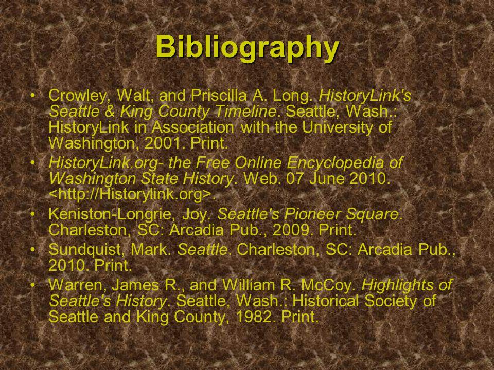 Bibliography Crowley, Walt, and Priscilla A. Long.