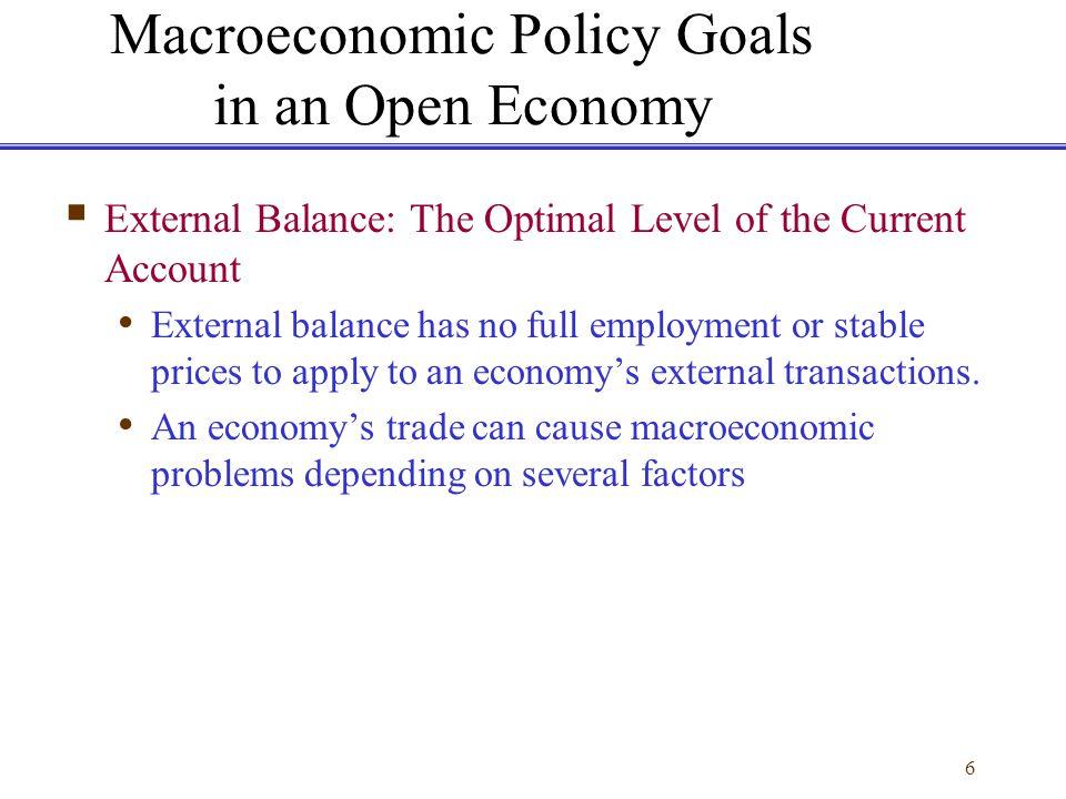 27 Maintaining External Balance How do policy tools affect the economys external balance.
