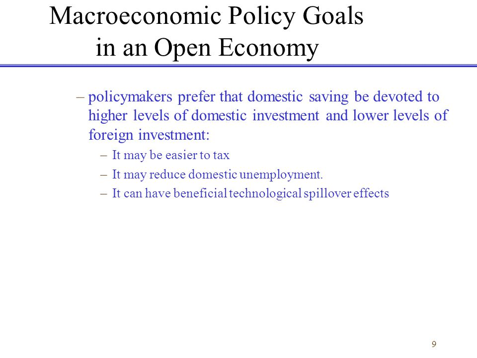 20 Goals and Structure of the IMF to allow countries to attain external balance without sacrificing internal objectives or fixed exchange rates.