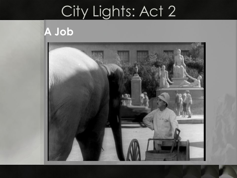 City Lights: Act 2 A Job