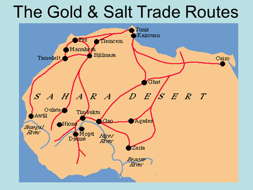 The Gold-Salt Exchange The Gold & Salt Trade Routes