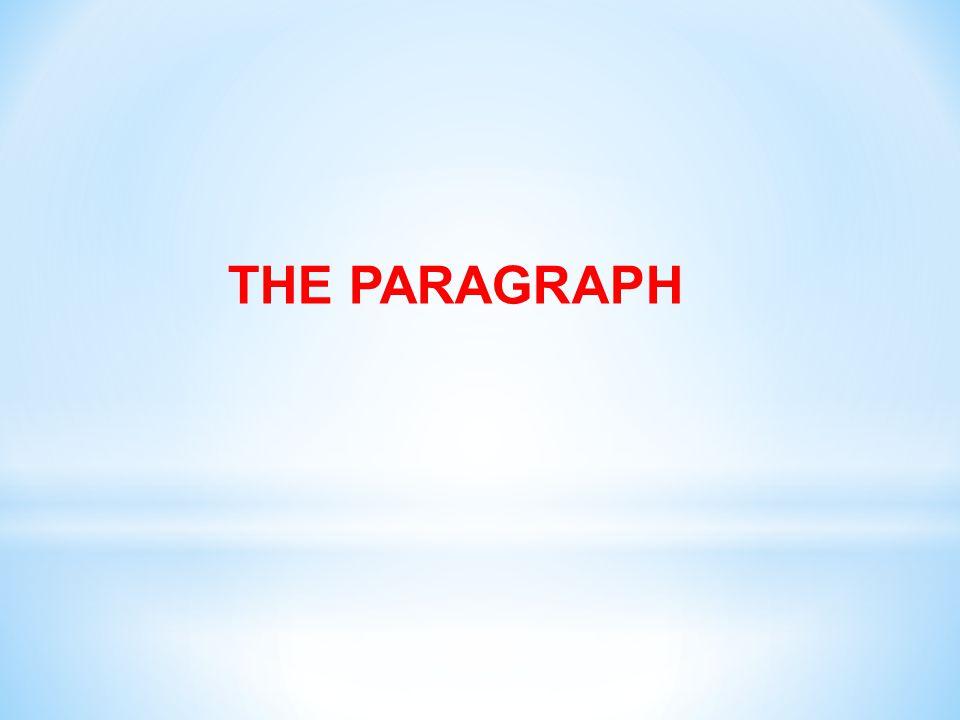 THE PARAGRAPH