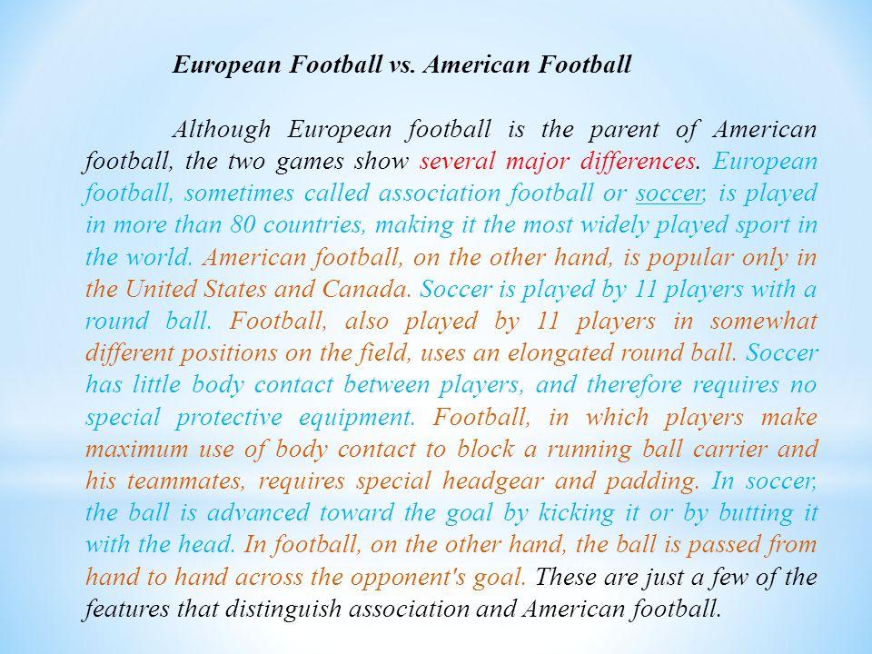 European Football vs.