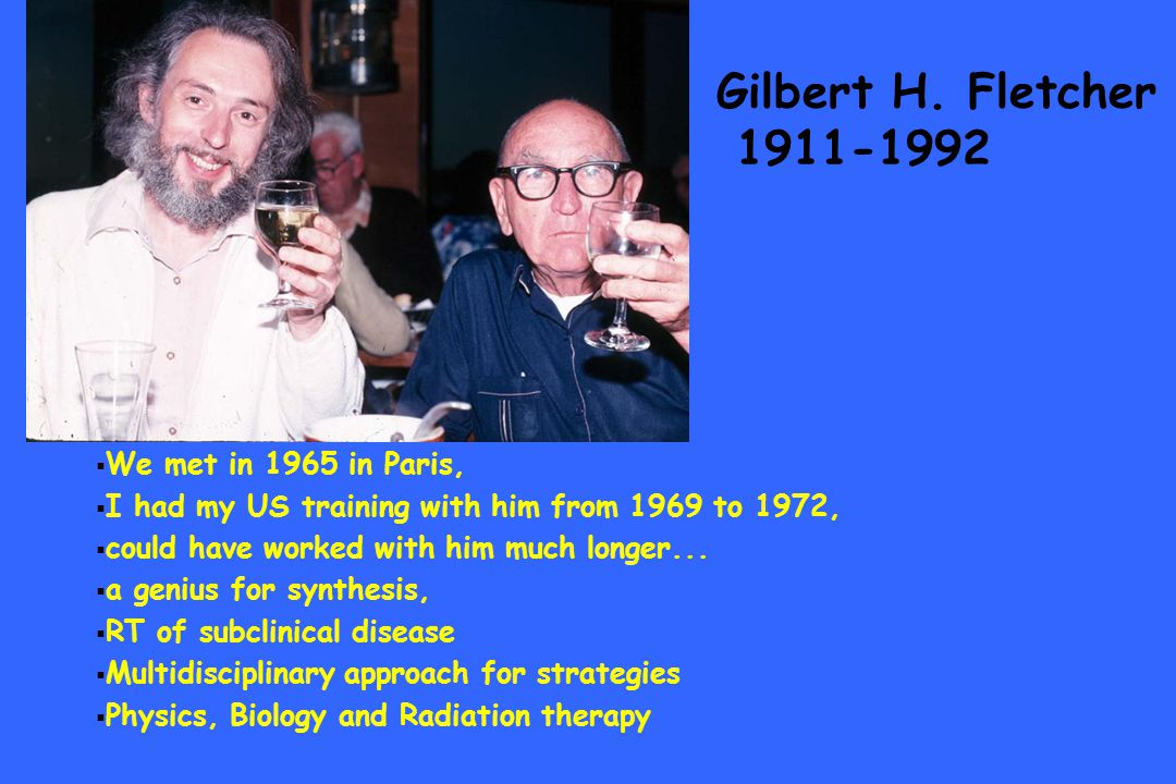 Gilbert H. Fletcher 1911-1992 We met in 1965 in Paris, I had my US training with him from 1969 to 1972, could have worked with him much longer... a ge