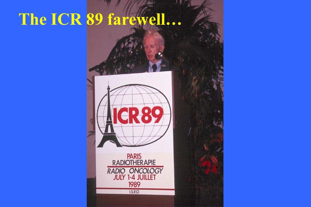 The ICR 89 farewell…