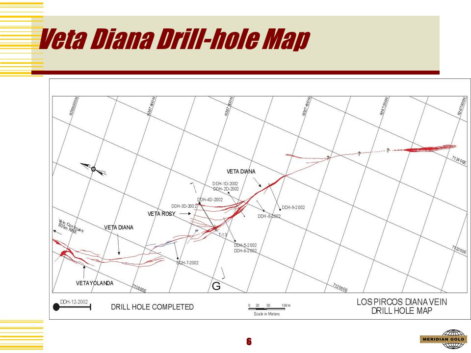 6 Veta Diana Drill-hole Map