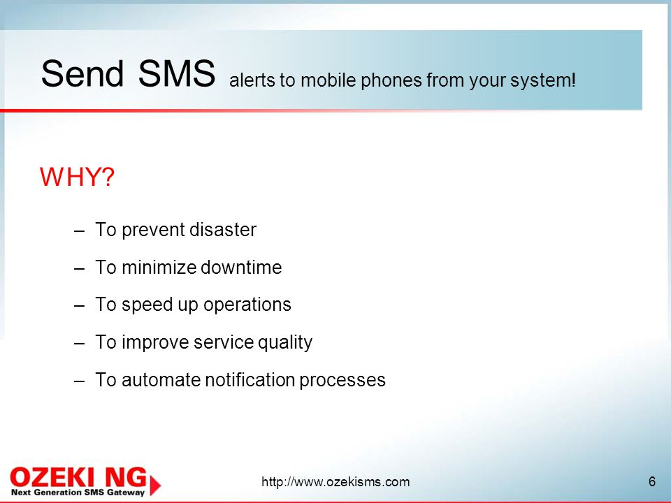 http://www.ozekisms.com7 How to send SMS notifications from SCOM 2007.