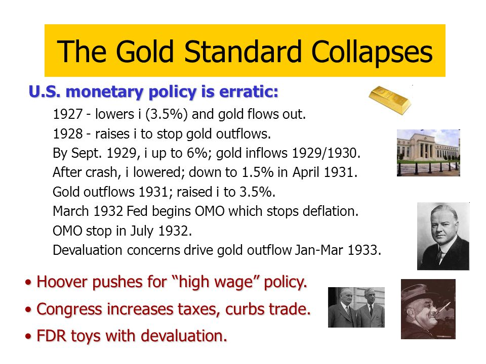 The Gold Standard Collapses U.S.