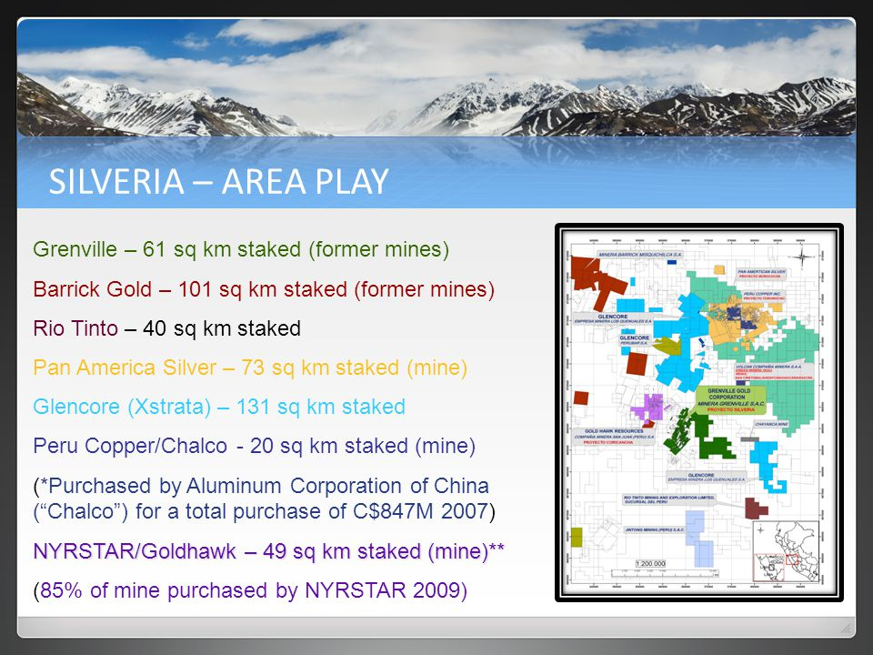 EXPLORATION TARGETS Mines Targeted for Development Report Ref.