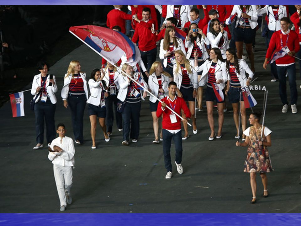 Novak Djokovic was the Serbian flag bearer at the opening ceremony of the Games.