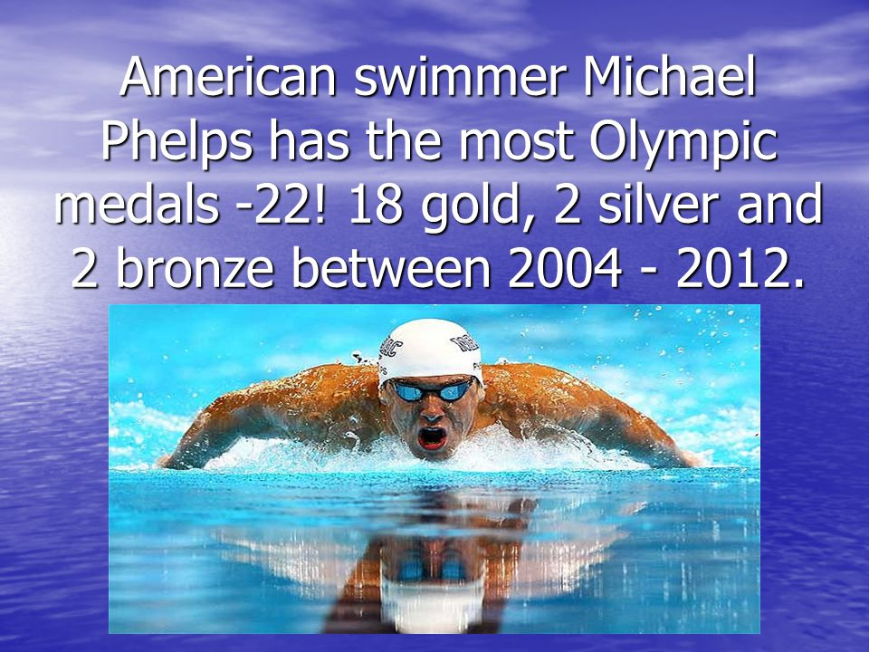 American swimmer Michael Phelps has the most Olympic medals -22.