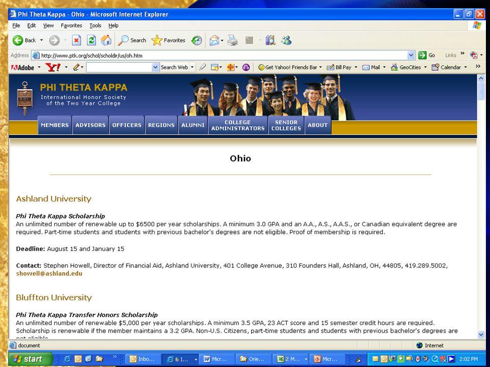 Searching PTKs eScholarship Directory, 6